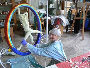 Skulpturer i glasfiberarmerad plast